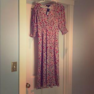 NWT Banana Republic Midi Floral Dress Size 6